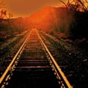 Railroad  Surreal Perspective IIi Poster