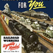 Railroad Workers Urgently Needed Poster