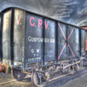Railway Gunpowder Wagon Poster by Chris Thaxter