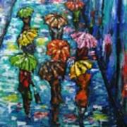 Rain Fantasy Acrylic Painting  Poster