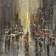 Rain On Wisconsin Avenue Poster