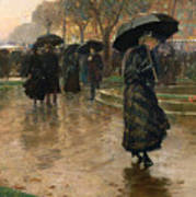 Rain Storm Union Square Poster by Childe Hassam