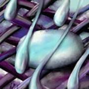 Life On Purple Plaid Poster