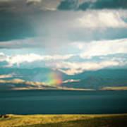 Rainbow Above Lake Manasarovar Kailash Yantra.lv Poster