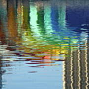 Rainbow Bandshell Reflection Poster