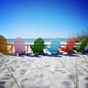 Rainbow Beach Vanilla Pop Poster