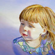 Rainbow Breeze Girl Portrait Poster