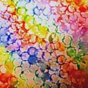 Rainbow Bubbles Poster