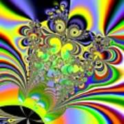 Rainbow Butterfly Bouquet Fractal Abstract Poster