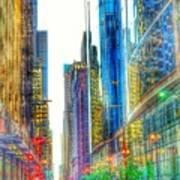 Rainbow Cityscape Poster