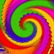Rainbow Coloured Cock Swirl H A Poster