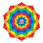 Rainbow - Crown Chakra  Poster