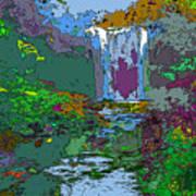 Rainbow Falls Purple Poster