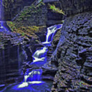 Rainbow Falls Watkins Glen State Park Poster