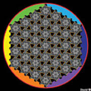 Rainbow Flower Of Life Wob Poster