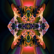Rainbow Hydranga Abstraction Poster by Claude McCoy