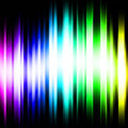 Rainbow Light Rays Poster by Michael Tompsett