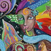 Rainbow Muse Poster