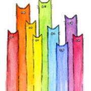 Rainbow of Cats Poster