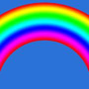 Rainbow On Sky Poster