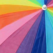 Rainbow On The Beach Poster