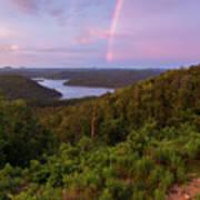 Rainbow Over Broken Bow Lake Poster