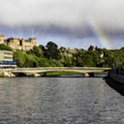 Rainbow Over Inverness Poster