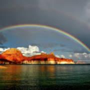 Rainbow Over Lake Powell Poster