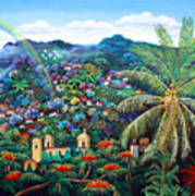 Rainbow Over Matagalpa Poster