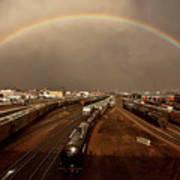 Rainbow Over Moose Jaw Saskatchewan Poster