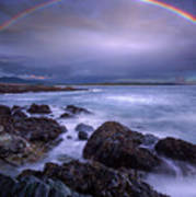 Rainbow Over The Biddeford Pool Poster