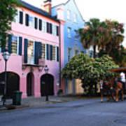 Rainbow Row Charleston Poster