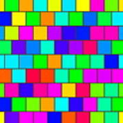 Rainbow Tiles Poster