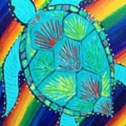 Rainbow Turtle Poster