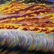 Rainbow Waves Poster