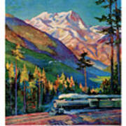 Rainier National Park Vintage Poster Restored Poster