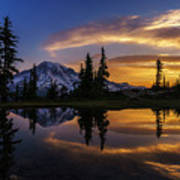 Rainier Sunrise Reflection #2 Poster