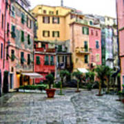 Rainy Afternoon In Vernazza Poster