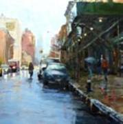 Rainy Afternoon On Amsterdam Avenue Poster by Peter Salwen