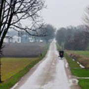 Rainy Amish Day Poster