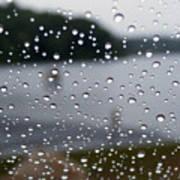 Rainy Day At The Lake Poster