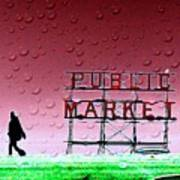 Rainy Day At The Market Poster