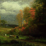 Rainy Day In Autumn Poster by Albert Bierstadt