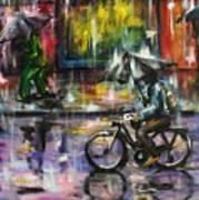 Rainy Day Original Painting Poster