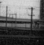 Rainy Day Train Poster