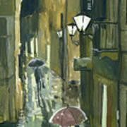Rainy Evening In Kotor Poster