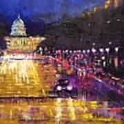 Rainy Evening On Pennsylvania Avenue Poster