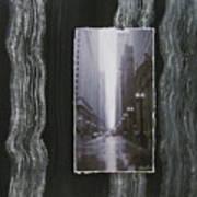 Rainy Street Layered Poster