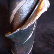 Raku Slab Wrapped Vase Poster