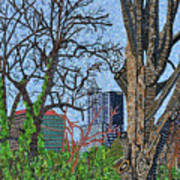 Raleigh - View From Chavis Park Poster
